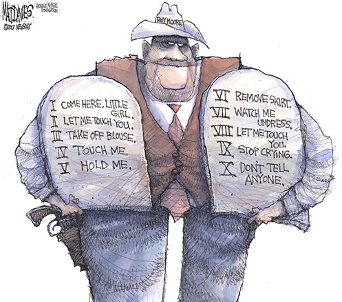Political Cartoon of Roy Moore