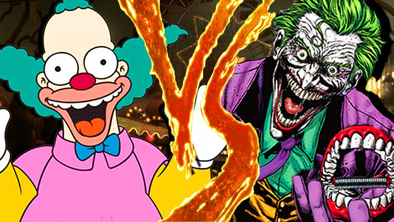 Simpson's Krusty the Klown vs Batman's The Joker