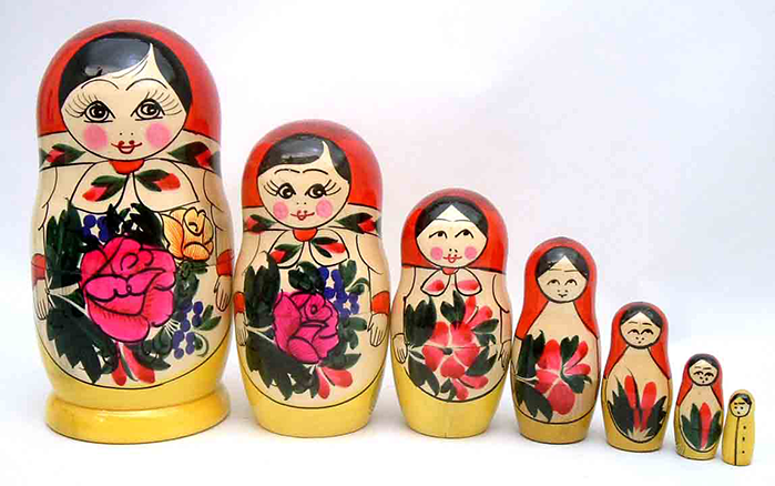 Picture of Russian matryoshka dolls