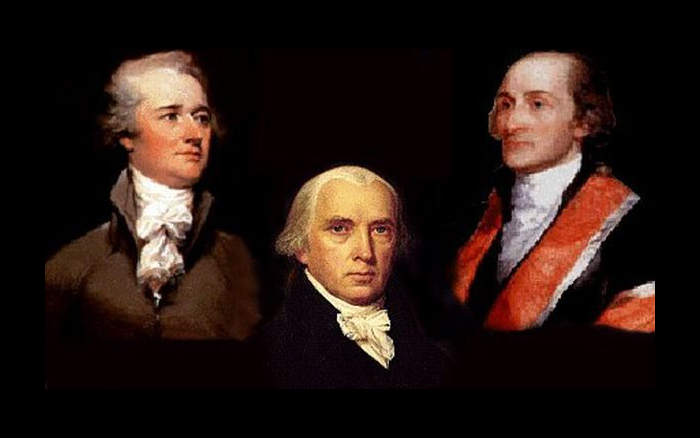 Picture of Alexander Hamilton, James Madison, and John Jay