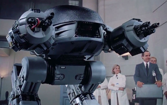 Picture of ED-209 from the movie Robocop