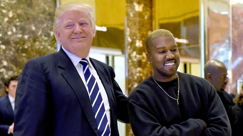 Picture of Donald Trump next to Kanye West