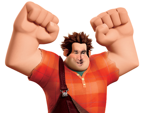 A facial mashup of Wreck It Ralph and Ralph Northam