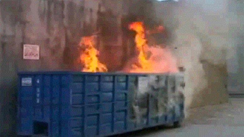 Picture of a dumpster fire